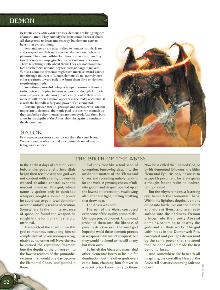 Demon Mimicry-Balor-D&D 4th Edition - Monster Manual 1
