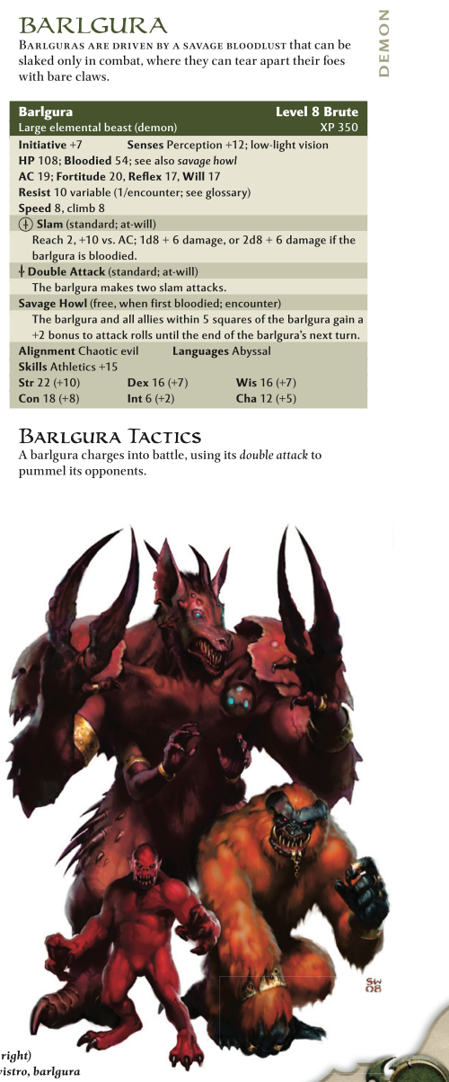 Demon Mimicry-Barlgura-D&D 4th Edition - Monster Manual 1