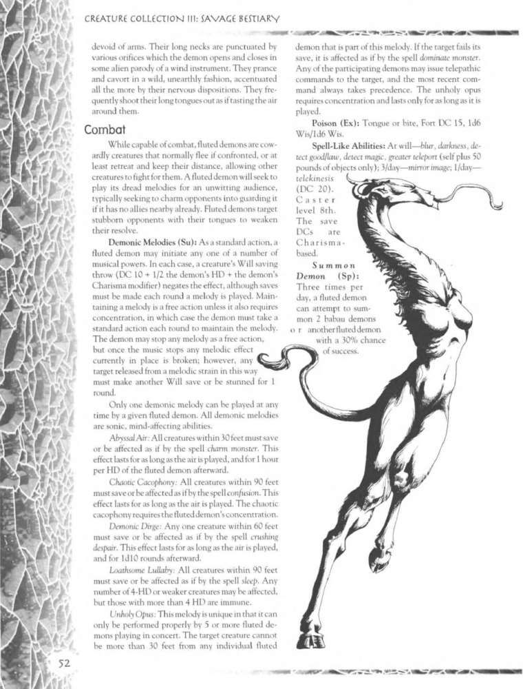 Demon Mimicry-Fluted Demons-Creature Collection III. Savage Bestiary