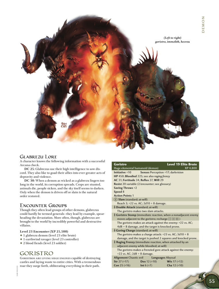 Demon Mimicry-Glabrezu-D&D 4th Edition - Monster Manual 1