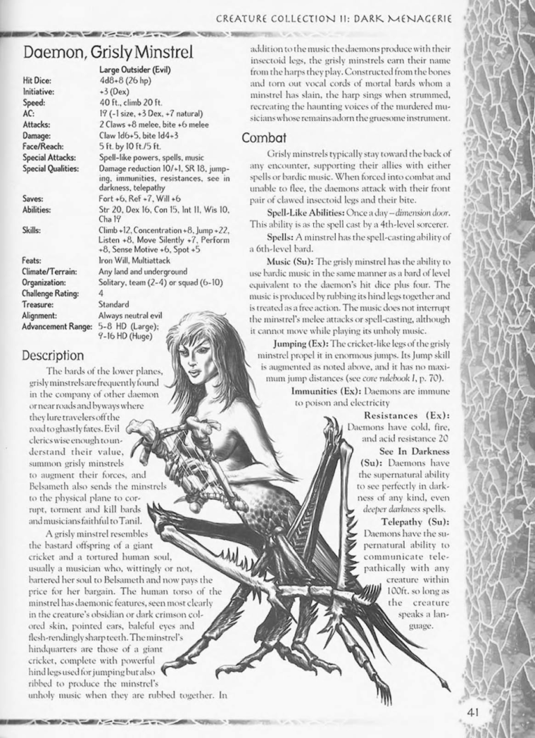 Demon Mimicry-Grisly Minstrel-Creature Collection II. Dark Menagerie