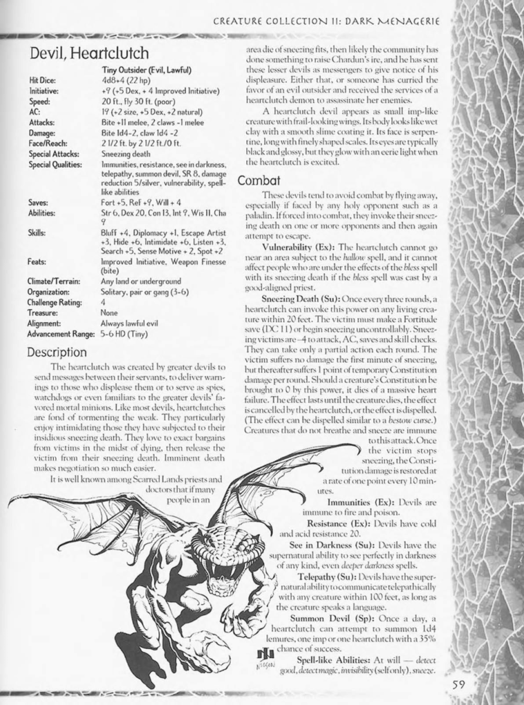 Demon Mimicry-Heartclutch-Creature Collection II. Dark Menagerie