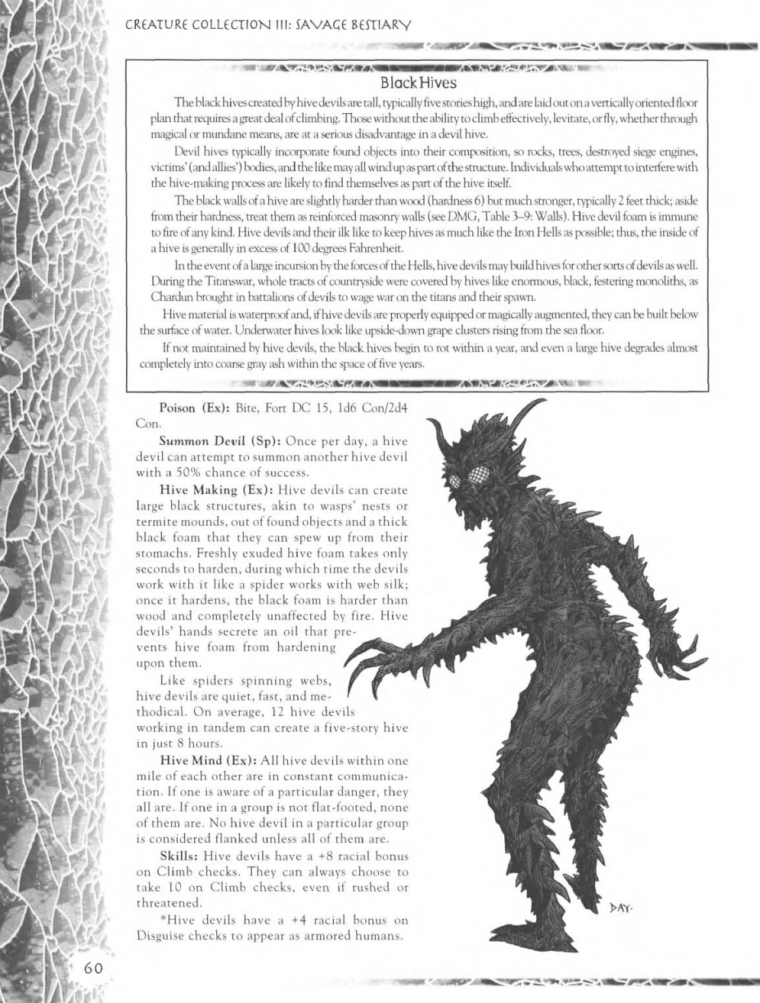 Demon Mimicry-Hive Devils-Creature Collection III. Savage Bestiary