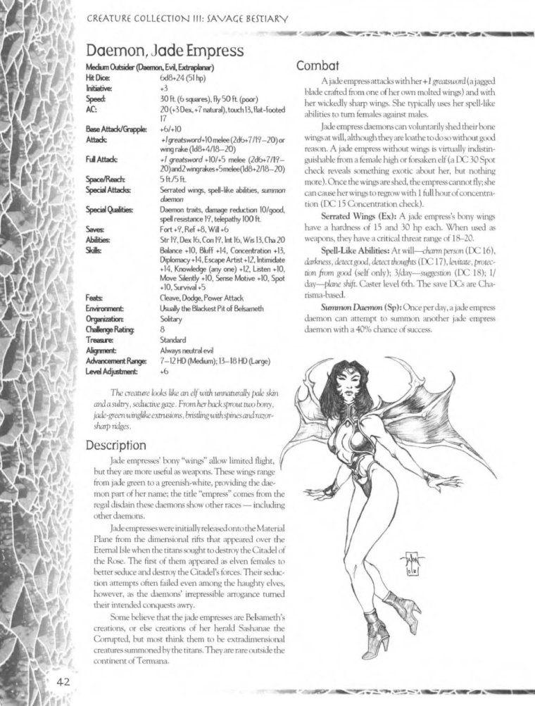 Demon Mimicry-Jade Empress-Creature Collection III. Savage Bestiary