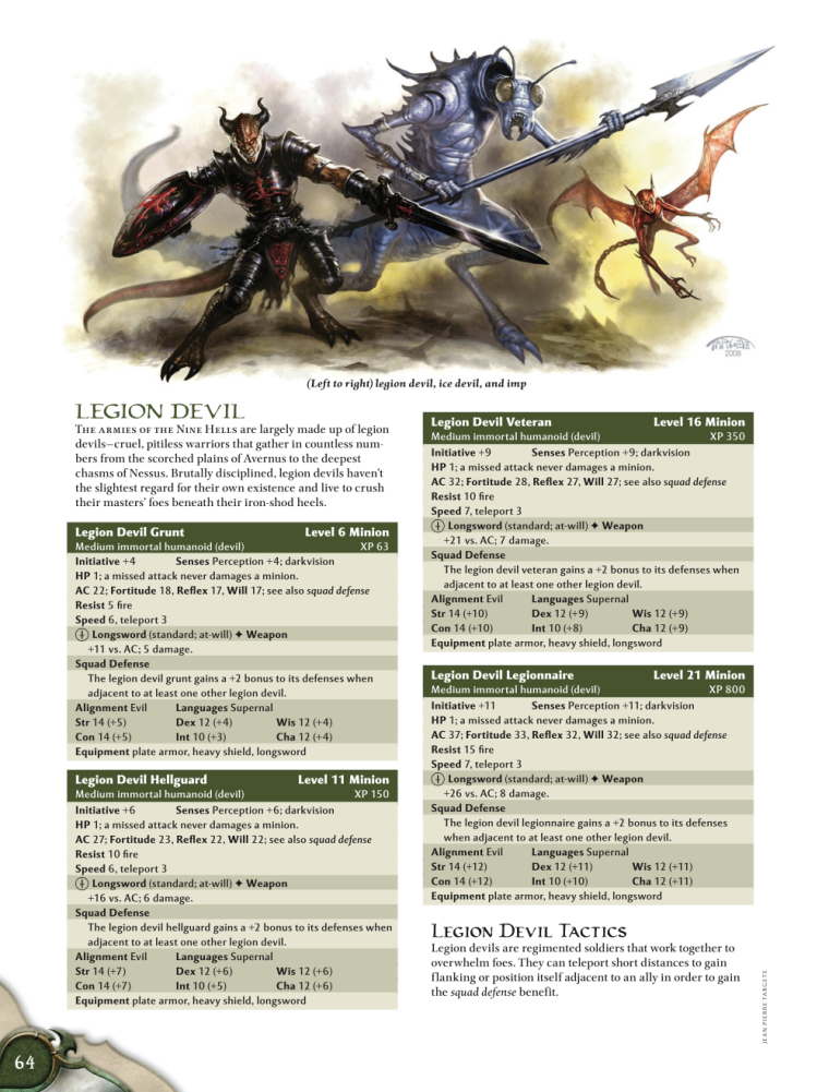 Demon Mimicry-Legion Devil-D&D 4th Edition - Monster Manual 1