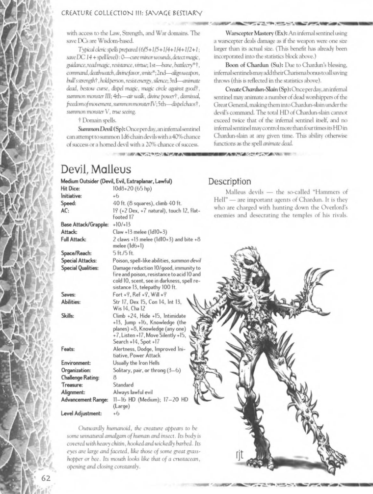 Demon Mimicry-Malleus Devil-Creature Collection III. Savage Bestiary
