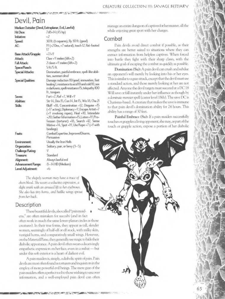 Demon Mimicry-Pain Devil-Creature Collection III. Savage Bestiary