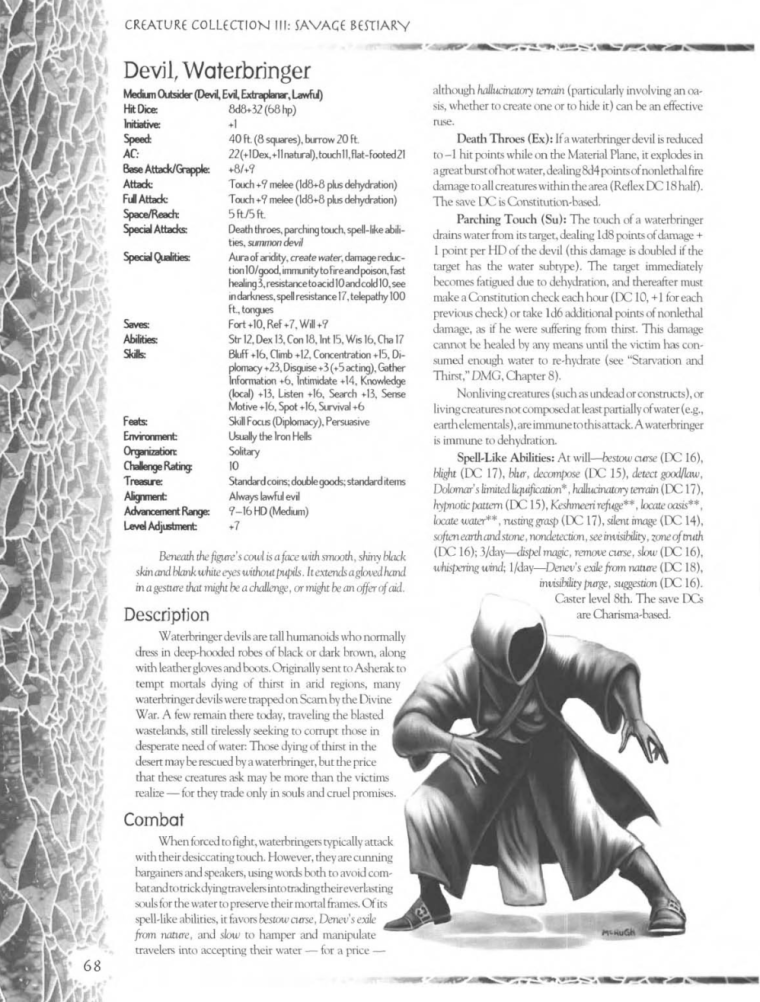 Demon Mimicry-Waterbringer Devil-Creature Collection III. Savage Bestiary