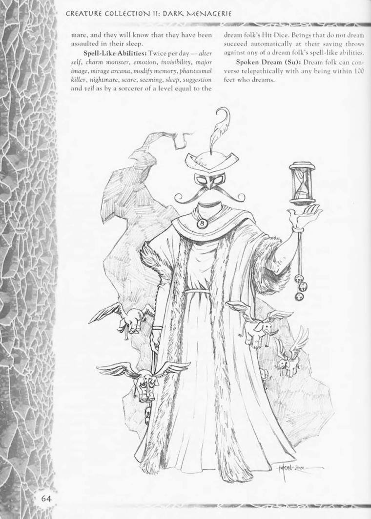 Dream Mimicry-Dreamfolk-Creature Collection II. Dark Menagerie