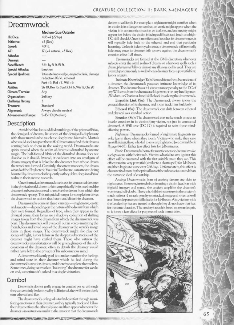 Dream Mimicry-Dreamwrack-Creature Collection II. Dark Menagerie