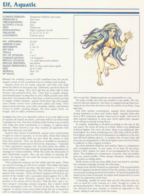 fey-mimicry-aquatic-elf-tsr-2140a-monstrous-manual