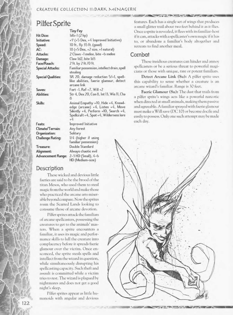 Fey Mimicry-D&D-Pilfer Sprite-Creature Collection II. Dark Menagerie