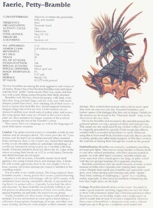 fey-mimicry-petty-bramble-faerie-tsr-2166-monstrous-compendium-annual-volume-3