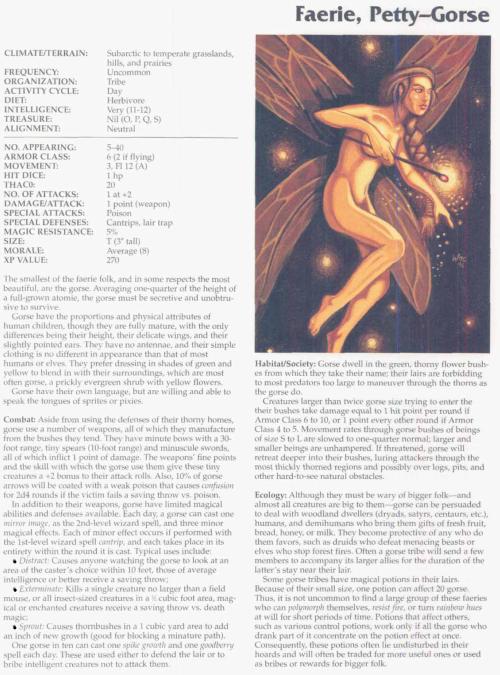fey-mimicry-petty-gorse-faerie-tsr-2166-monstrous-compendium-annual-volume-3