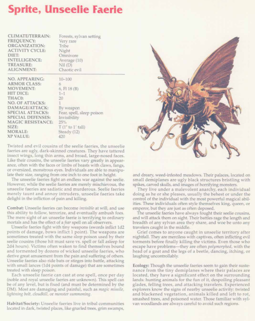 fey-mimicry-unseelie-faerie-tsr-2158-monstrous-compendium-annual-volume-2
