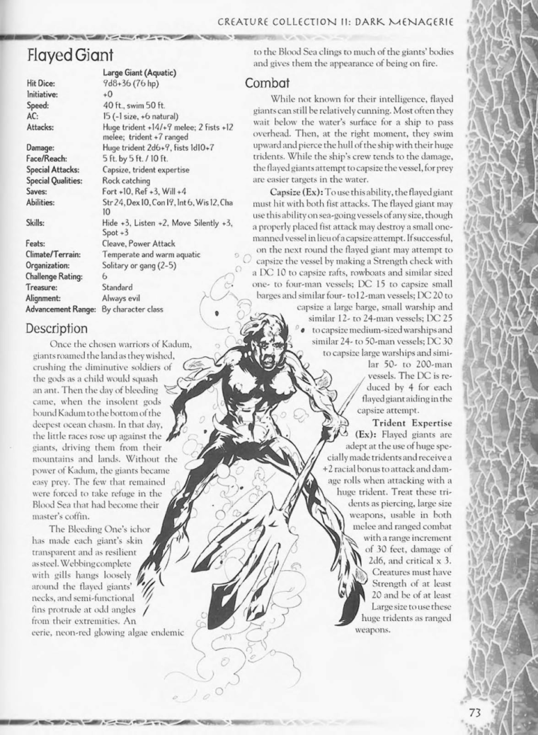 Giant Mimicry-D&D-Flayed Giant-Creature Collection II. Dark Menagerie