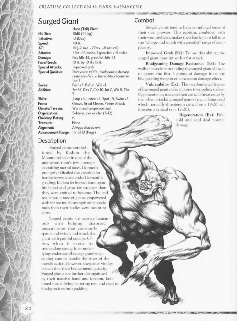 Giant Mimicry-D&D-Surged Giant-Creature Collection II. Dark Menagerie
