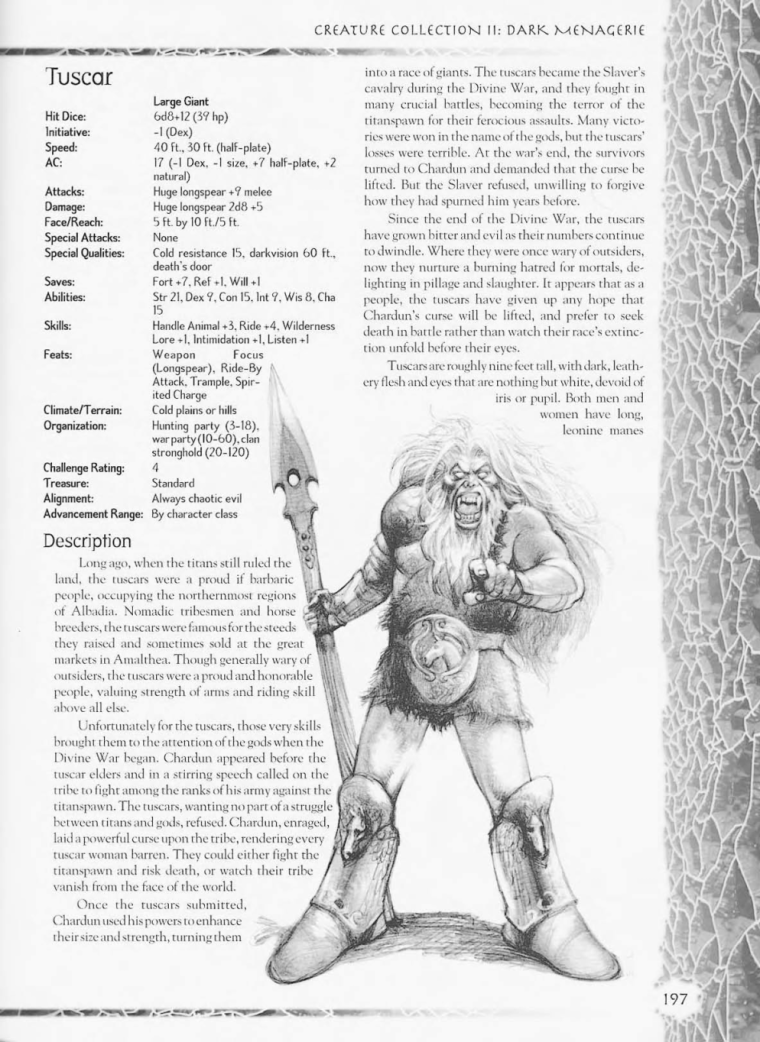 Giant Mimicry-D&D-Tuscar-Creature Collection II. Dark Menagerie