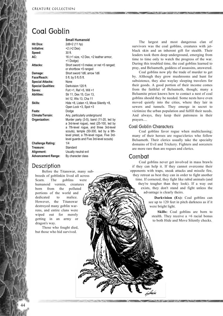 Goblinoid Mimicry-Coal Goblin-Creature Collection I