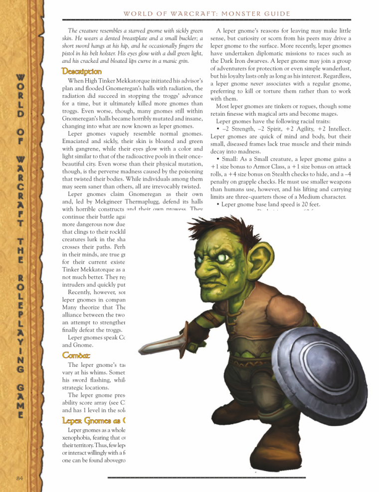 Goblinoid Mimicry-WOW-Leper Gnome-World of Warcraft Monster Guide