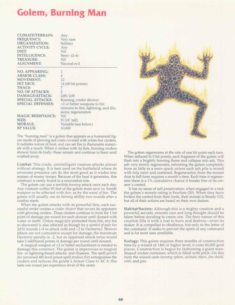 golem-mimicry-dd-burning-man-golem-tsr-2158-monstrous-compendium-annual-volume-2