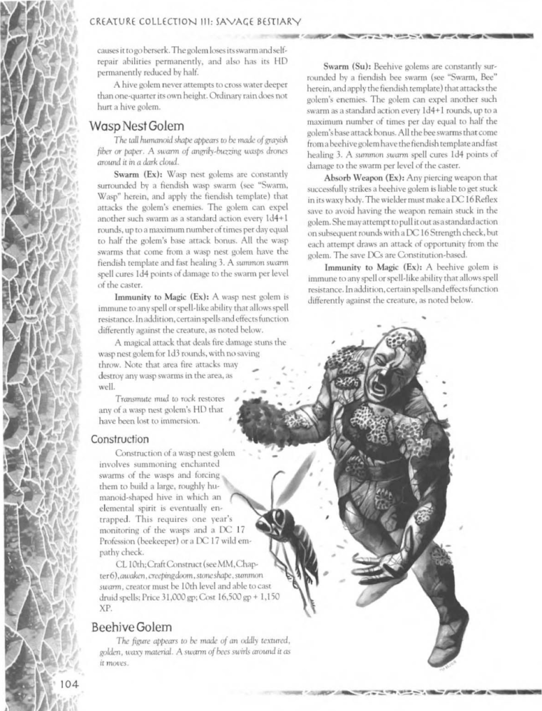 golem-mimicry-dd-wasp-nest-golem-creature-collection-iii-savage-bestiary