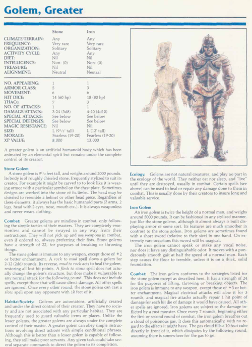 golem-mimicry-greater-golem-tsr-2140a-monstrous-manual
