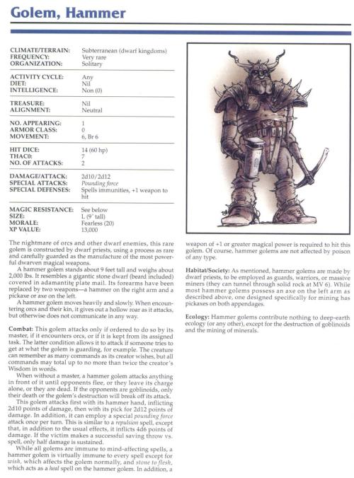 golem-mimicry-hammer-golem-tsr-2145-monstrous-compendium-annual-volume-1