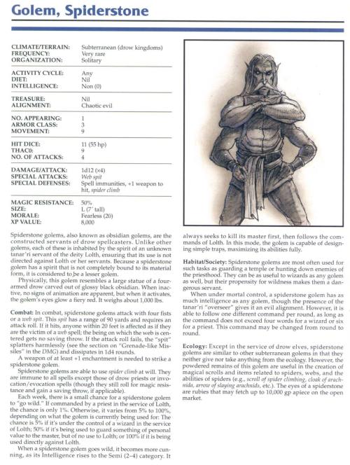golem-mimicry-spiderstone-golem-tsr-2145-monstrous-compendium-annual-volume-1
