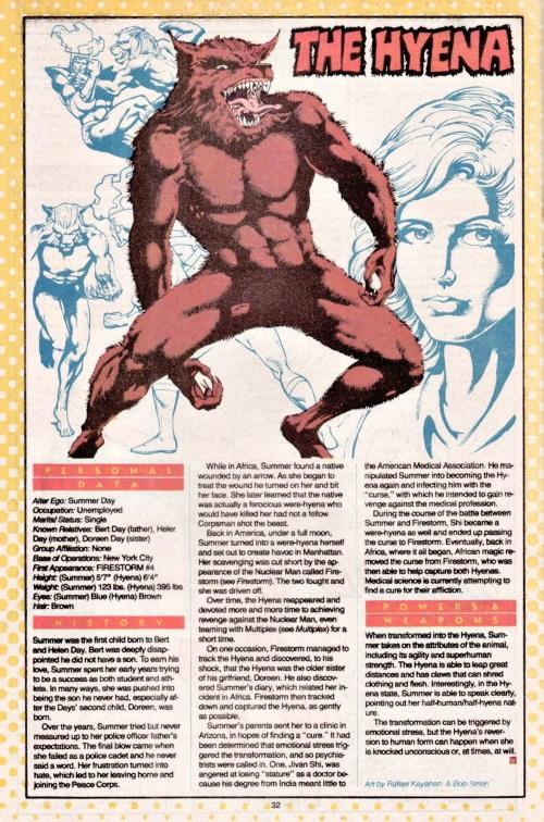 Hyena Mimicry-DC-The Hyena-DC Who's Who #10 (1985)