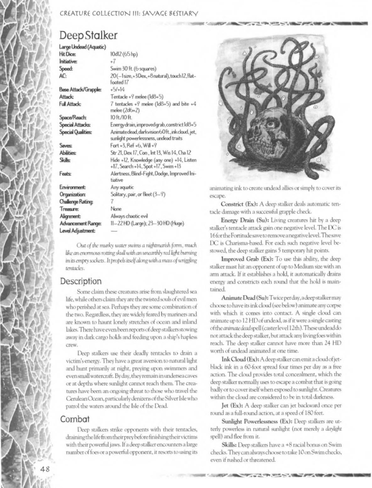 Life Force Manipulation-D&D-Deep Stalker-Creature Collection III. Savage Bestiary