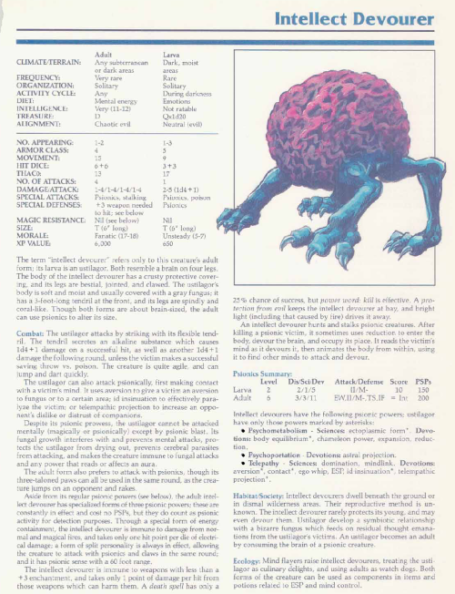 mind-absorption-intellect-devourer-tsr-2140a-monstrous-manual