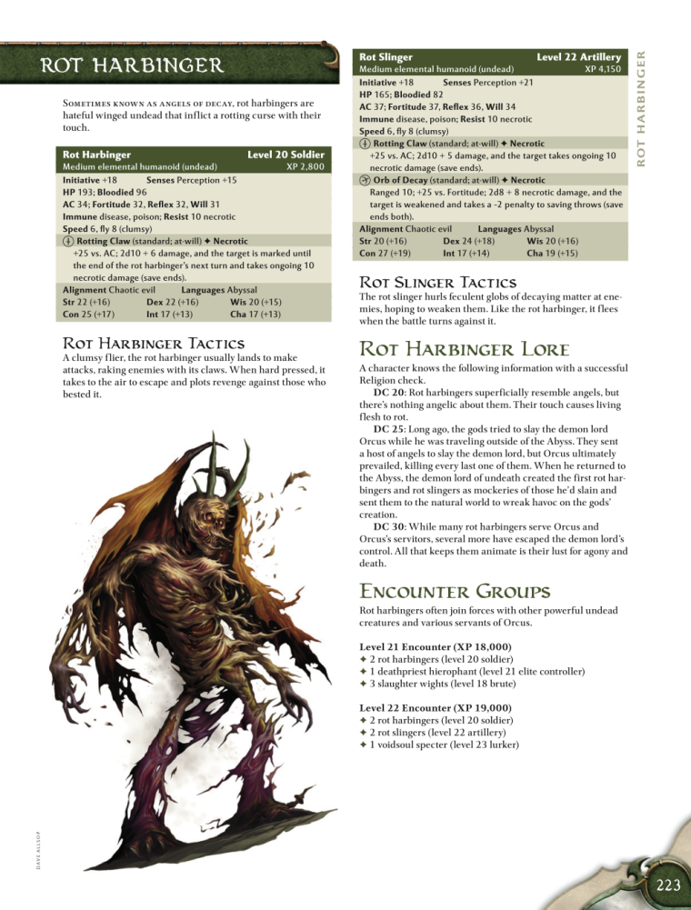 Rot Manipulation-Rot Harbinger-D&D 4th Edition - Monster Manual 1