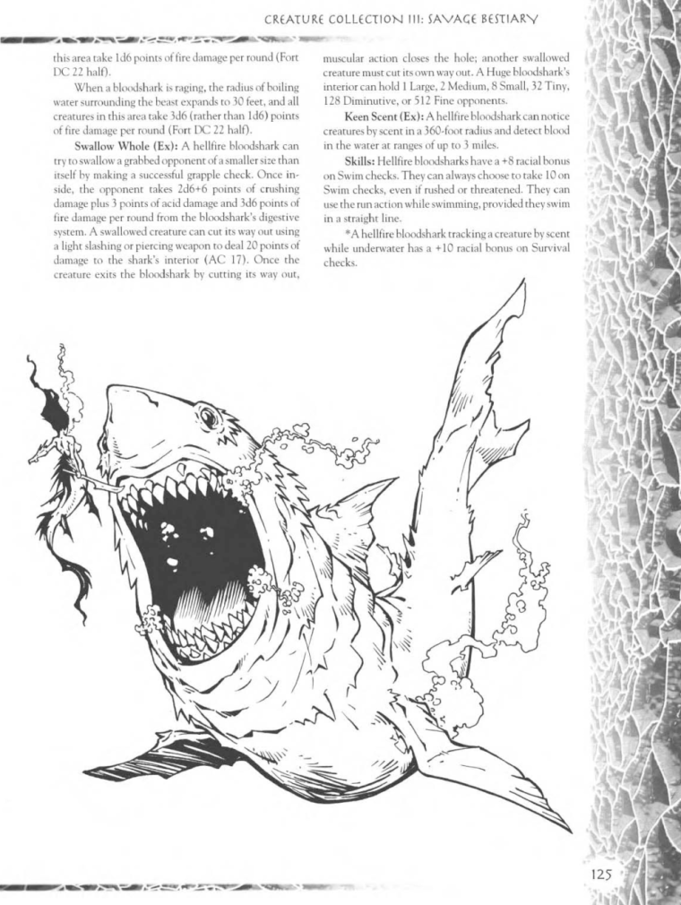 Shark Mimicry-D&D-Bloodshark-Creature Collection III. Savage Bestiary