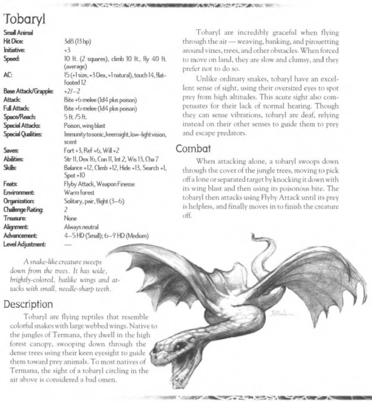 Snake Mimicry-D&D-Tobaryl-Creature Collection III. Savage Bestiary