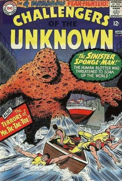 Sponge Mimicry-Sponge Man-Challengers of the Unknown V1 #47