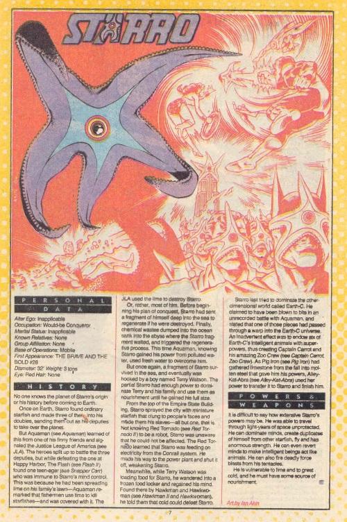 Starfish Mimicry-Starro-DC Who's Who #22 (1986)