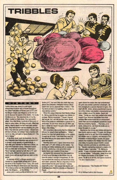 Super Fecundity-Tribbles-Who's Who in Star Trek #2 (1987)