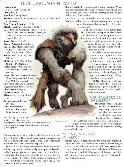troll-mimicry-mountain-troll-dd-3-5-monster-manual-iii
