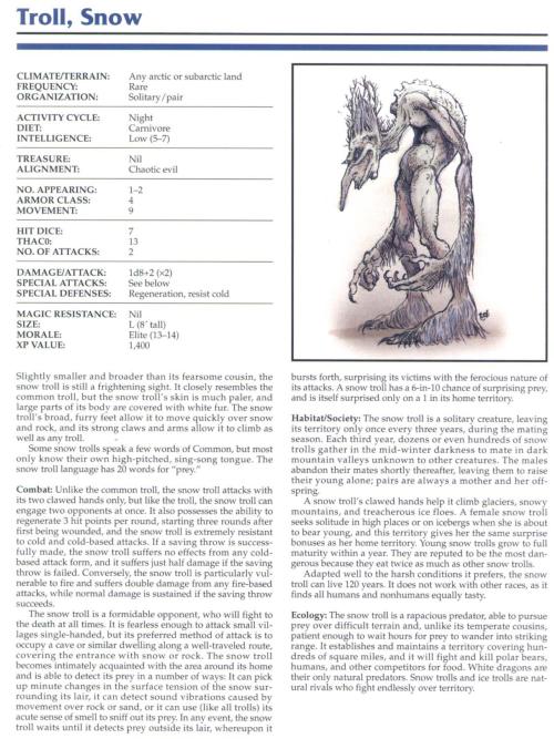 troll-mimicry-snow-troll-tsr-2145-monstrous-compendium-annual-volume-1