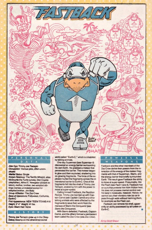 Turtle Mimicry-Fastback-DC Who's Who #7 (1985)