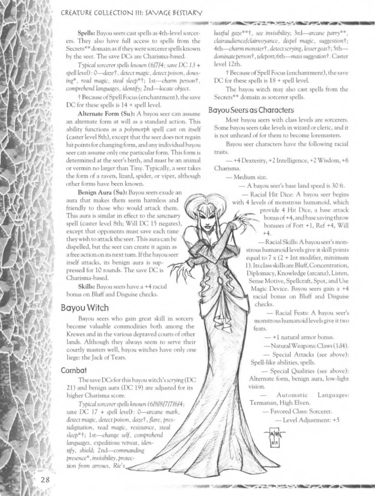 Witch Mimicry-D&D-Bayou Seer-Creature Collection III. Savage Bestiary