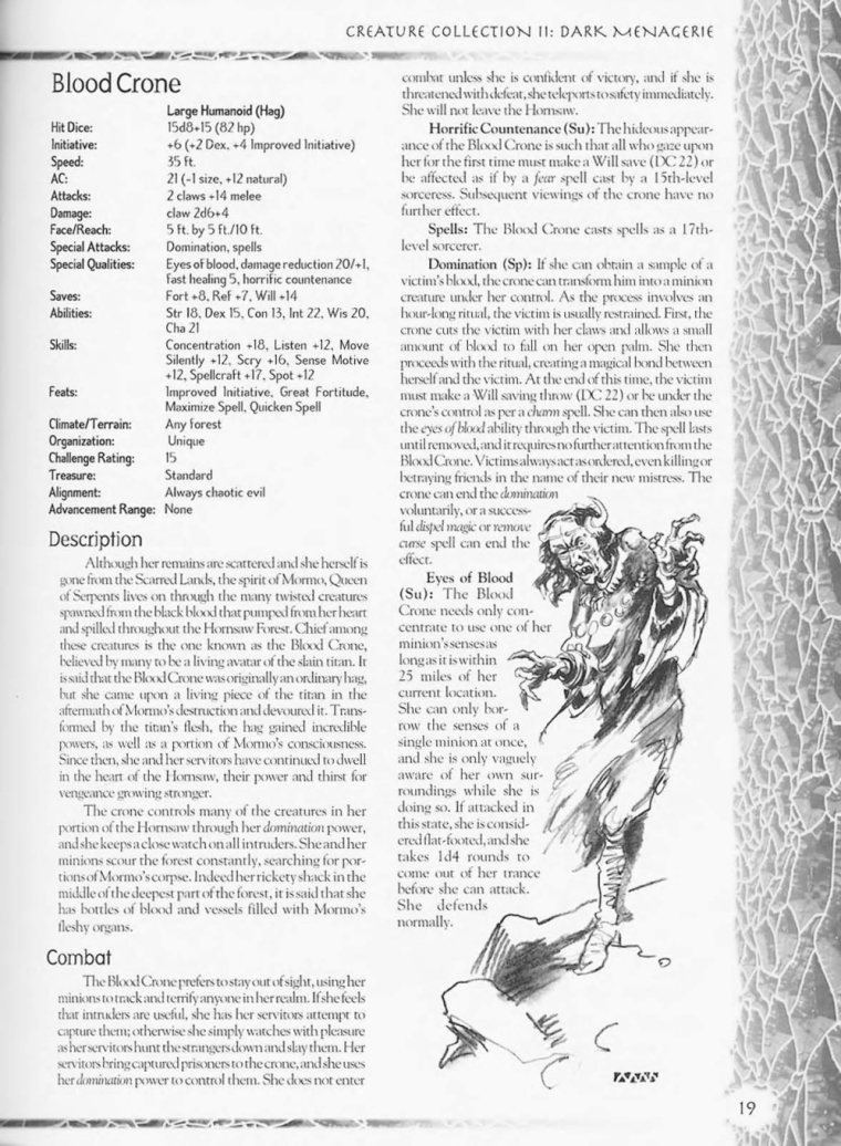 Witch Mimicry-D&D-Blood Crone-Creature Collection II. Dark Menagerie