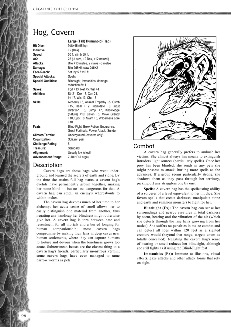 Witch Mimicry-D&D-Cavern Hag-Creature Collection I