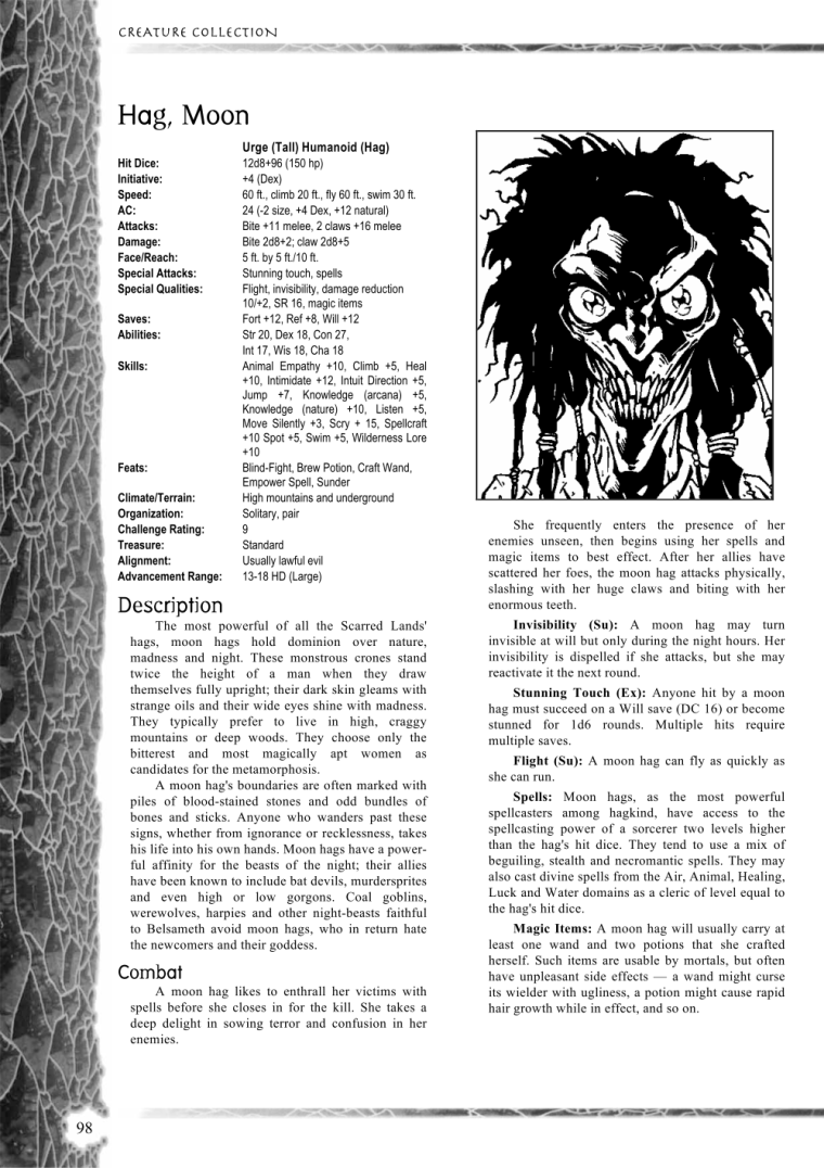 Witch Mimicry-D&D-Moon Hag-Creature Collection I