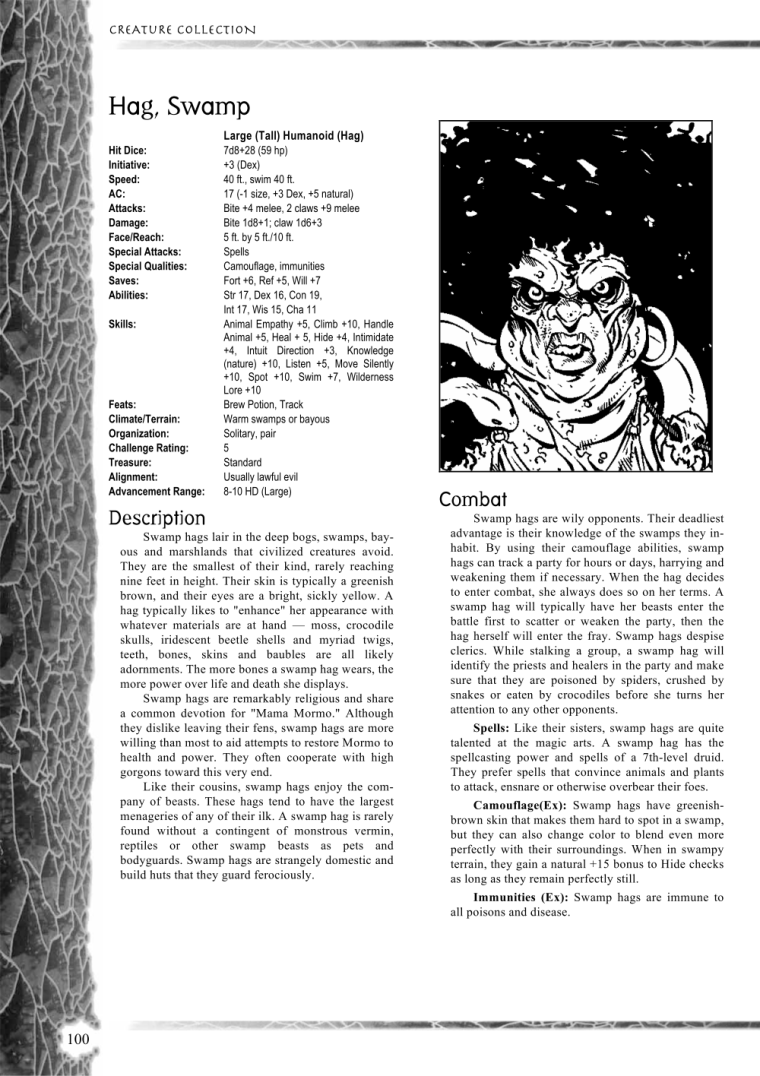 Witch Mimicry-D&D-Swamp Hag-Creature Collection I