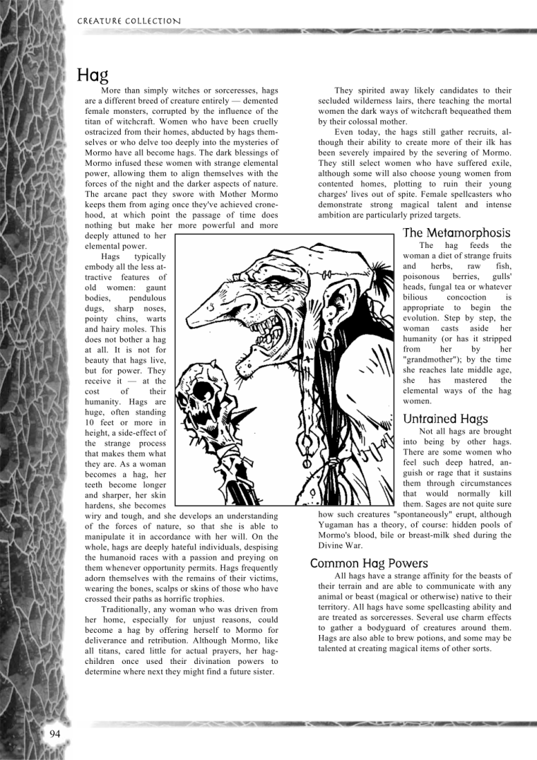 Witch Mimicry-D&D-Untrained Hags-Creature Collection I