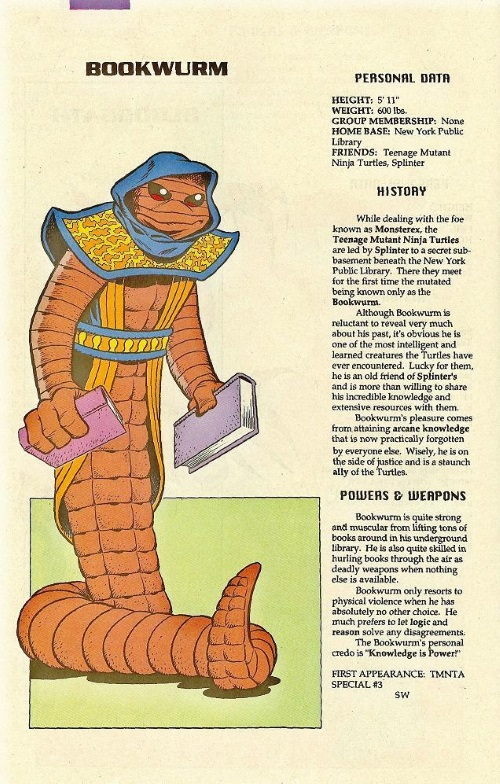 Worm Mimicry-Bookworm-TMNT Mutant Universe Sourcebook #1