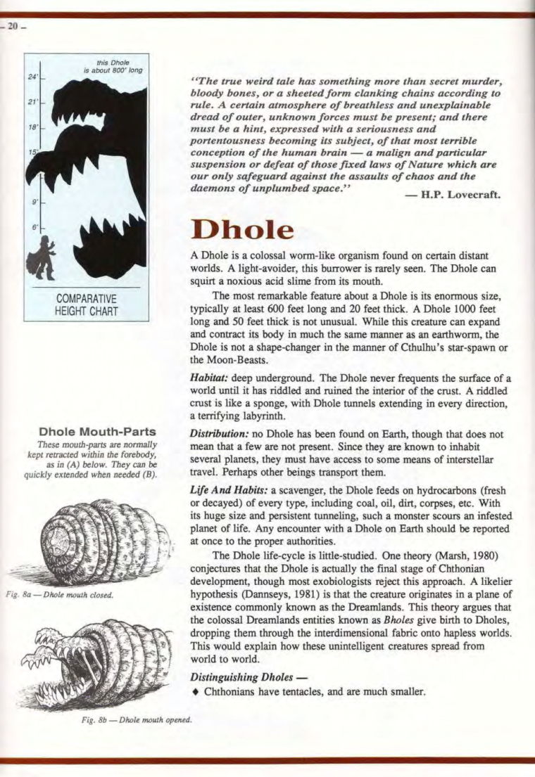 Worm Mimicry-Lovecraft-Dhole-Field Guide to Cthulhu Monsters-1
