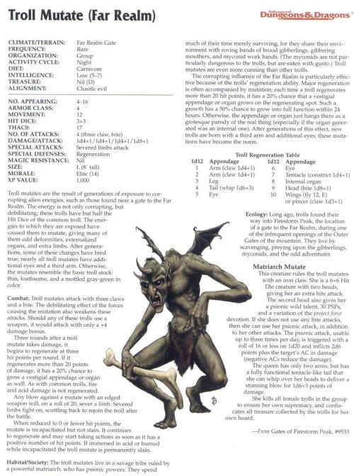 463) Troll Anatomy